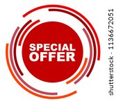 red vector banner special offer | Shutterstock .eps vector #1136672051