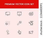 modern  simple vector icon set... | Shutterstock .eps vector #1136683091