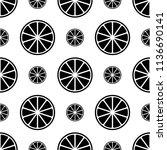 lemon icon seamless pattern ...   Shutterstock .eps vector #1136690141