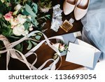 wedding accessory bride.... | Shutterstock . vector #1136693054