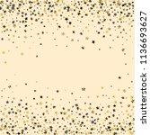 horizontal border from confetti ...   Shutterstock .eps vector #1136693627