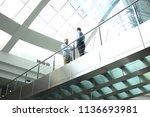 bottom view. business people... | Shutterstock . vector #1136693981