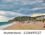 spain  calella   september 15 ... | Shutterstock . vector #1136695127