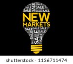 new markets bulb word cloud ... | Shutterstock .eps vector #1136711474
