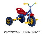 Kids tricycle isolated on white ...