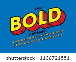 vector of modern bold font and... | Shutterstock .eps vector #1136721551