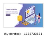 financial administration ... | Shutterstock .eps vector #1136723831