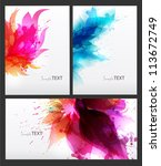 set of abstract cards with... | Shutterstock .eps vector #113672749