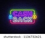 cash back sign vector design... | Shutterstock .eps vector #1136732621