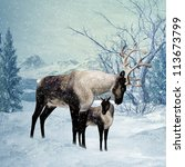 Winter Greeting Card Front Wit...