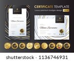 certificate template with... | Shutterstock .eps vector #1136746931