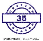 35 stamp seal watermark with... | Shutterstock .eps vector #1136749067