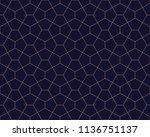 vector ornamental seamless... | Shutterstock .eps vector #1136751137