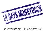 14 days moneyback stamp seal... | Shutterstock .eps vector #1136759489