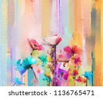abstract colorful oil painting... | Shutterstock . vector #1136765471