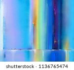 abstract colorful oil painting... | Shutterstock . vector #1136765474