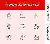 modern  simple vector icon set... | Shutterstock .eps vector #1136766581