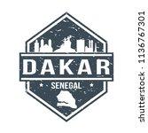 dakar senegal travel stamp icon ...   Shutterstock .eps vector #1136767301