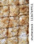 sliced kaday f desert  turkish... | Shutterstock . vector #1136769911