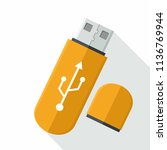 vector icon of the device usb... | Shutterstock .eps vector #1136769944