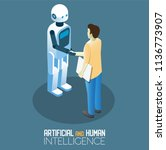 artificial intelligence and... | Shutterstock .eps vector #1136773907