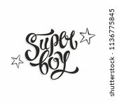 super boy. stylish fashion... | Shutterstock .eps vector #1136775845