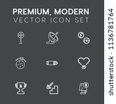 modern  simple vector icon set... | Shutterstock .eps vector #1136781764