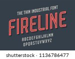 alphabet and font fire line.... | Shutterstock . vector #1136786477