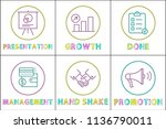 presentation and growth ... | Shutterstock .eps vector #1136790011