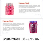 preserved food posters with... | Shutterstock .eps vector #1136790107