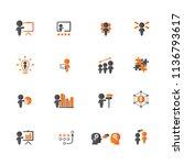 training. business training...   Shutterstock .eps vector #1136793617