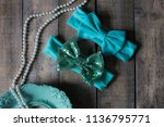 bow headband set of colorful... | Shutterstock . vector #1136795771