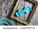 bow headband set of colorful... | Shutterstock . vector #1136795774