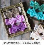 bow headband set of colorful... | Shutterstock . vector #1136795804