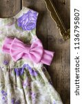 bow headband set of colorful... | Shutterstock . vector #1136795807