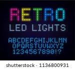 retro led font. old style... | Shutterstock .eps vector #1136800931