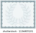 a winners or qualification... | Shutterstock .eps vector #1136805101