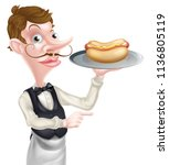 an illustration of a hotdog... | Shutterstock .eps vector #1136805119