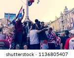 zagreb  croatia  07 16 2018 ... | Shutterstock . vector #1136805407