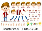 little boy character... | Shutterstock .eps vector #1136812031