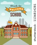 welcome back to school... | Shutterstock .eps vector #1136814281