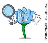 detective bell flower character ... | Shutterstock .eps vector #1136818259