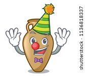 Clown Amphora Mascot Cartoon...