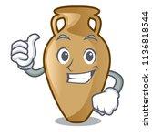 thumbs up amphora character... | Shutterstock .eps vector #1136818544