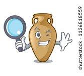 detective amphora character... | Shutterstock .eps vector #1136818559
