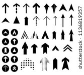 arrows vector collection with...   Shutterstock .eps vector #1136819357