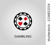 gambling icon. gambling symbol. ... | Shutterstock .eps vector #1136821514
