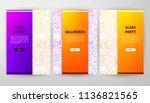 halloween brochure web design.... | Shutterstock .eps vector #1136821565