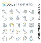 set of vector line icons with... | Shutterstock .eps vector #1136821577