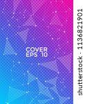 vector report template. global... | Shutterstock .eps vector #1136821901